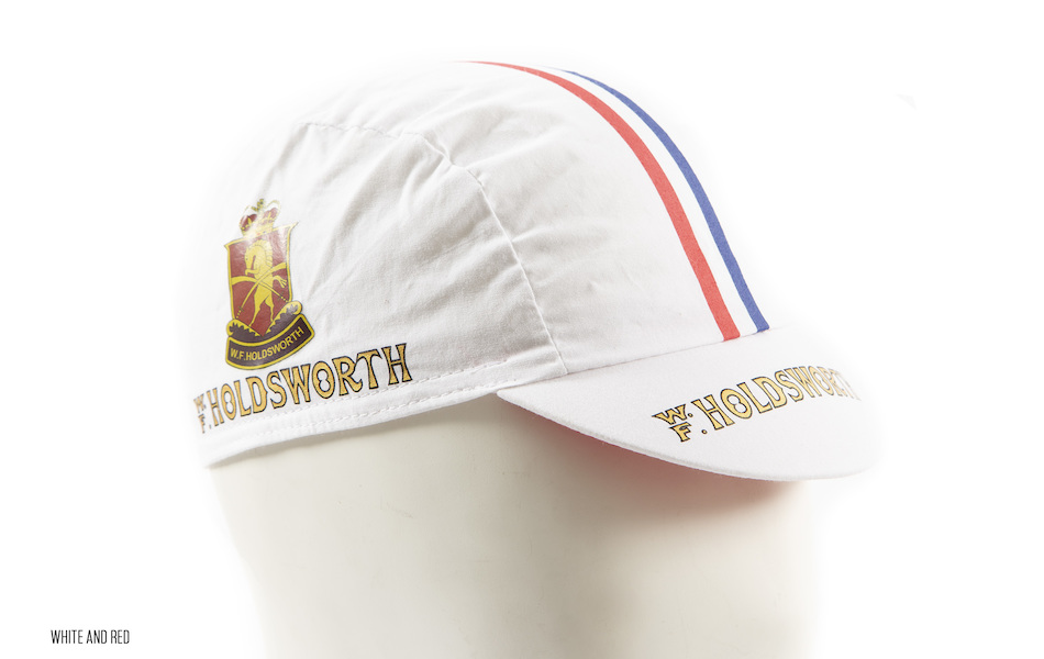 Holdsworth Cotton Cycling Cap / One Size / White and Red
