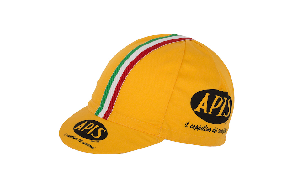 Apis Vintage Cotton Cycling Cap / One Size / Yellow