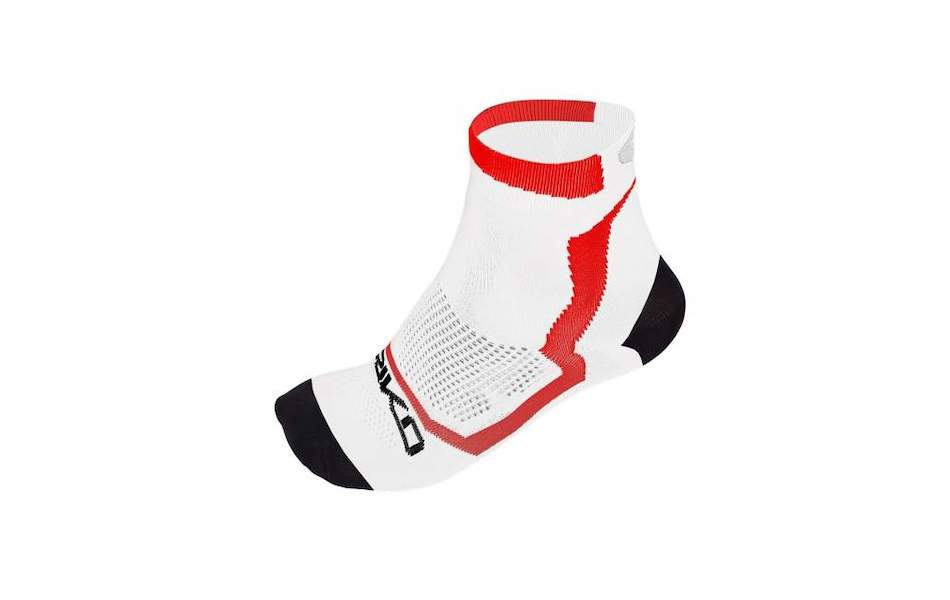 Briko Real Mesh Extreme 13 Cm Socks 3 Pack / Small / White, Black and Red