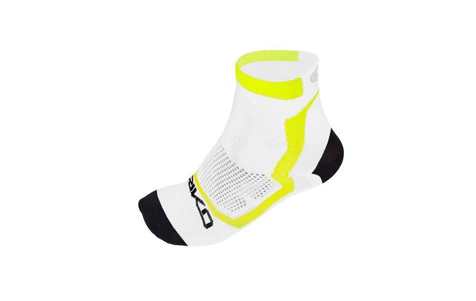 Briko Real Mesh Extreme 13 Cm Socks 3 Pack / Small / White,Black and Yellow