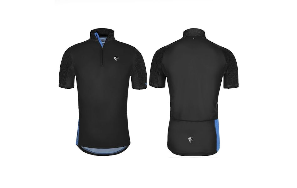 Briko Sentiero MTB Mens Jersey / Large / Black, Dark Grey and Blue