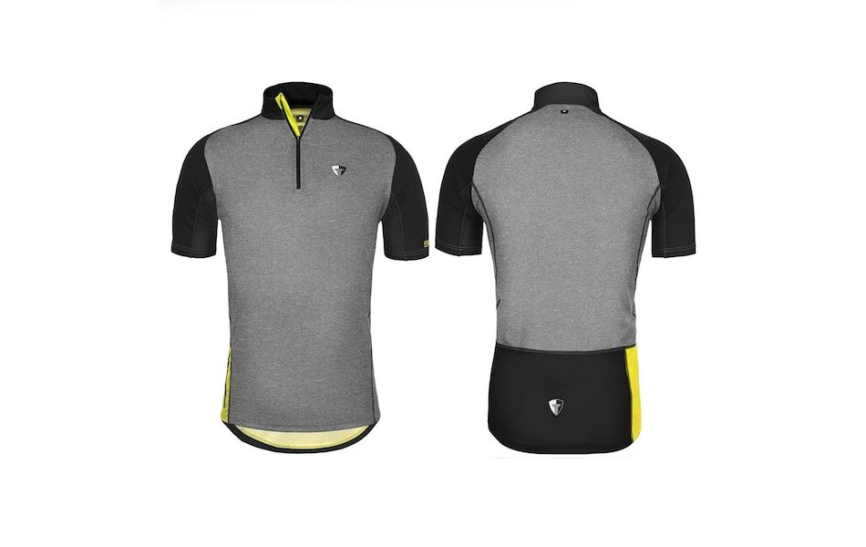 Briko Sentiero MTB Mens Jersey / Large / Grey Black and Yellow