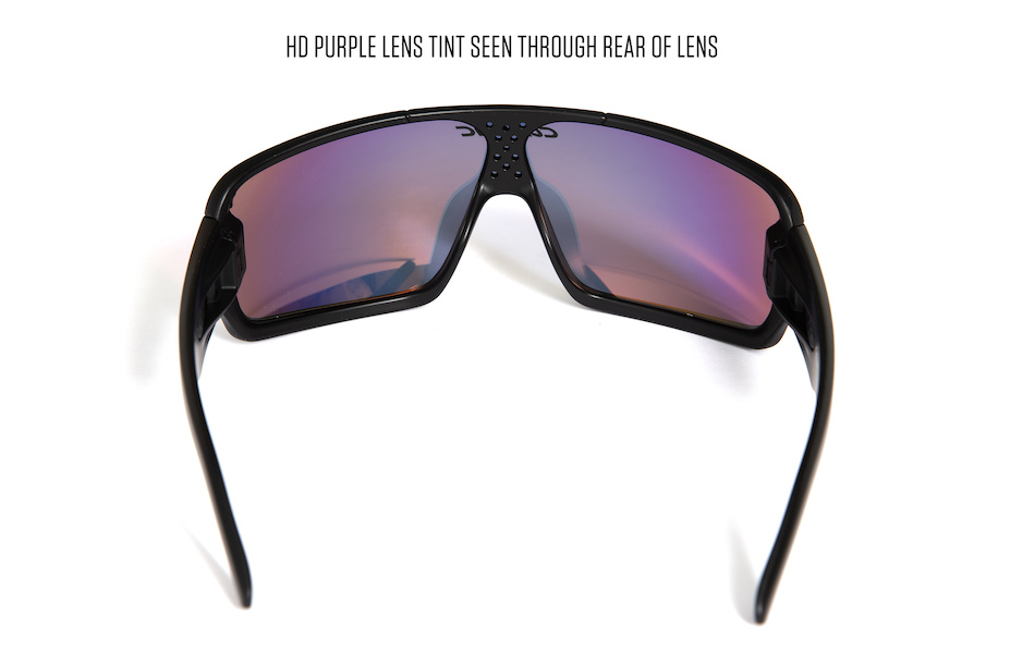 Carnac Feldman Sunglasses / Matt Black / HD Purple Red Revo