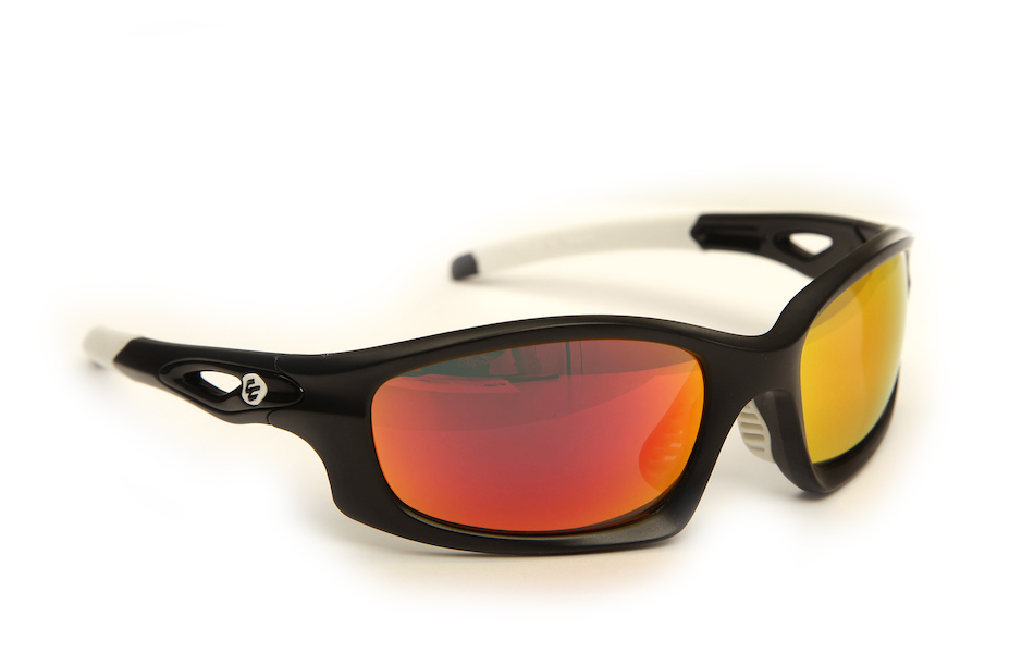 Carnac Metis Cycling Glasses (ANSI Z87.1) / Matt Black / Smoke Red Revo / Orange OR80 / Transparent