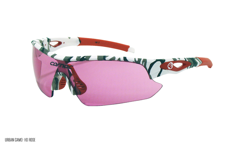 Carnac Ourea Cycling Glasses  (ANSI Z87.1) / Urban Camo / HD Rose