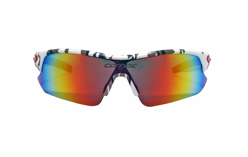 Carnac Ourea Cycling Glasses  (ANSI Z87.1) / Urban Camo / Smoke Red Revo / Orange OR80 / Transparent