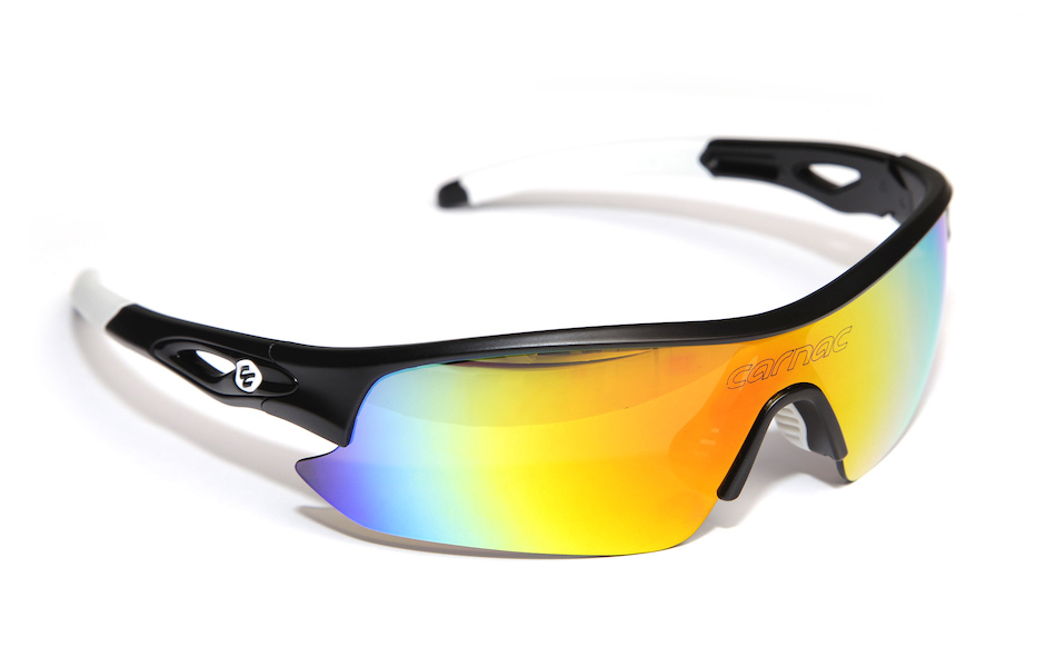 Carnac Ourea Cycling Glasses  (ANSI Z87.1) / Matt Black / Smoke Red Red / Orange OR80 / Transparent