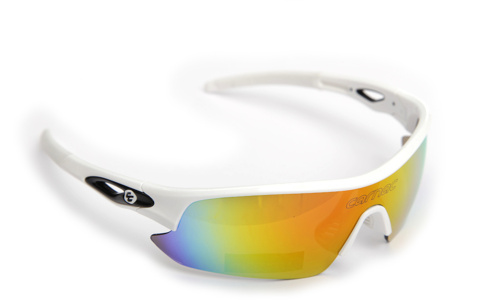 Carnac Ourea Cycling Glasses  (ANSI Z87.1) / Gloss White / Smoke Red Revo / Orange OR80 / Transparent