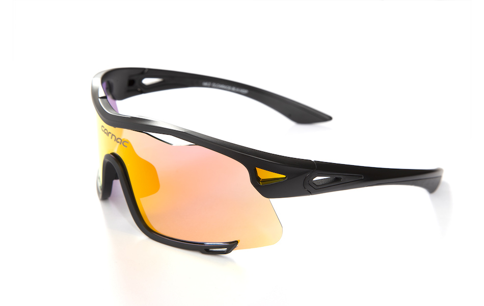 Carnac Race Sunglasses / Matt Black / HD Purple Red Revo