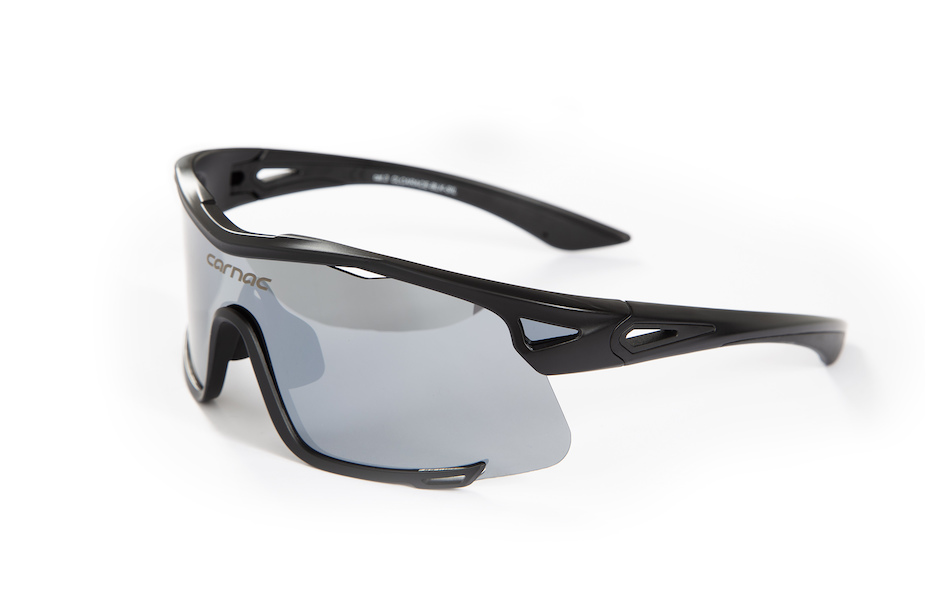 Carnac Race Sunglasses / Matt Black / Silver Revo