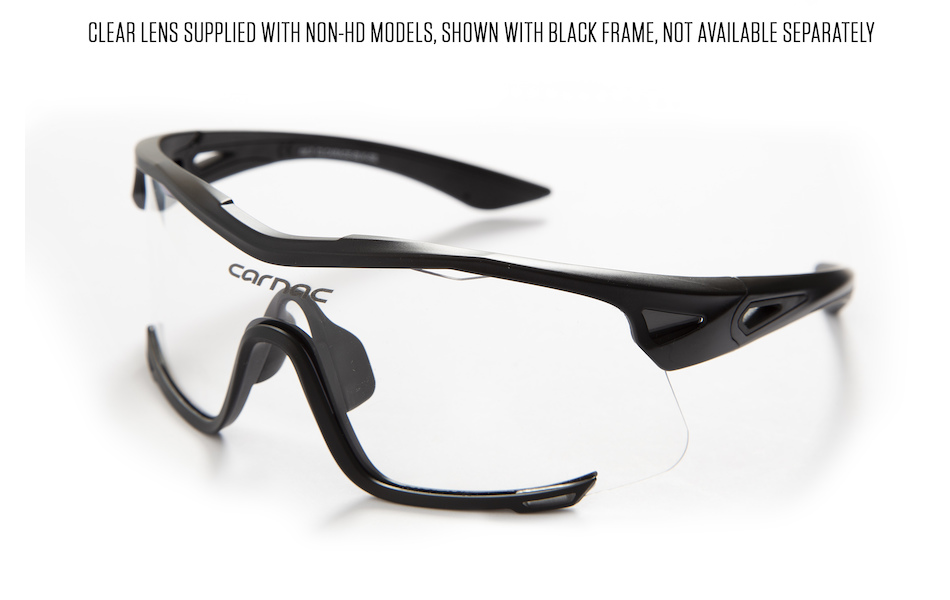Carnac Race Sunglasses / Clear Lens Supplied with Non-HD Lens Models