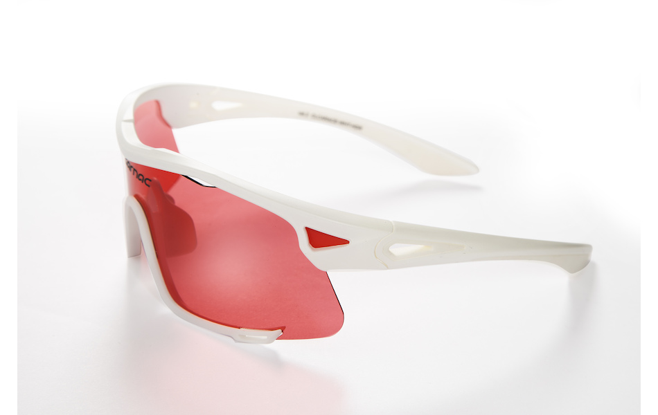 Carnac Race Sunglasses / Matt White / HD Rose