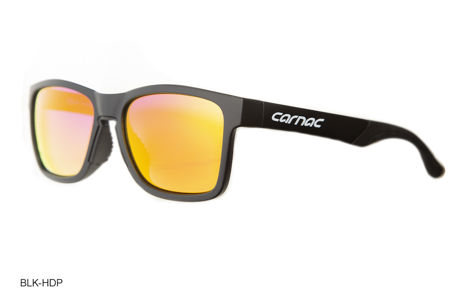 Carnac Razzle Sunglasses / Matt Black / HD Purple Red Revo