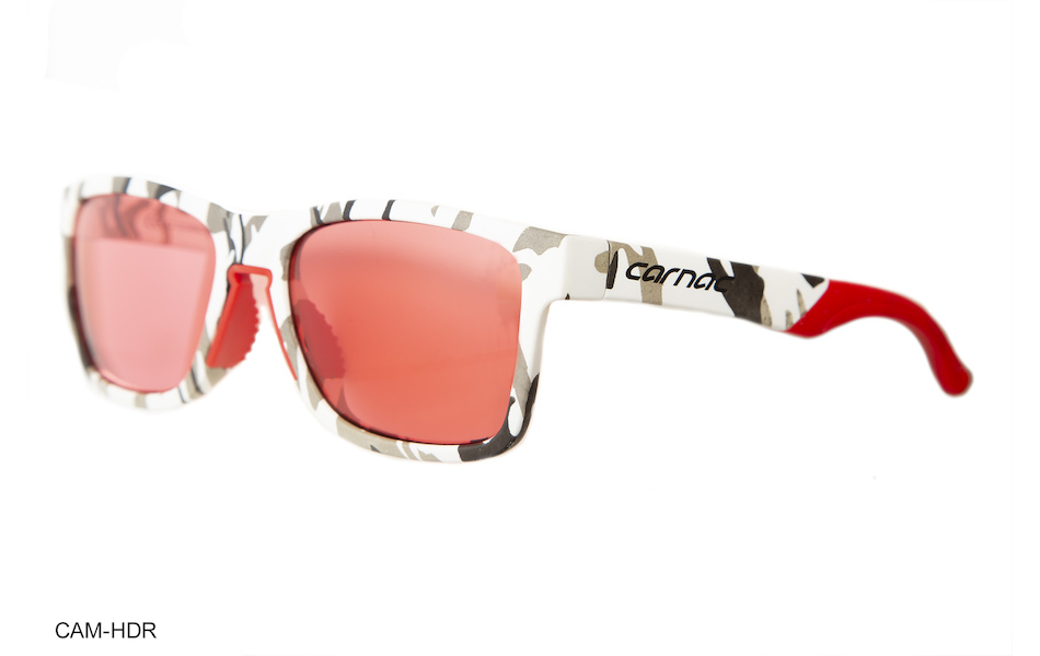 Carnac Razzle Sunglasses / White Urban Camo / HD Rose