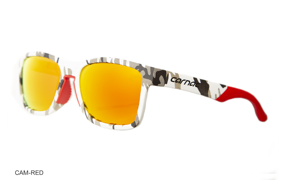 Carnac Razzle Sunglasses / White Urban Camo / Red Revo