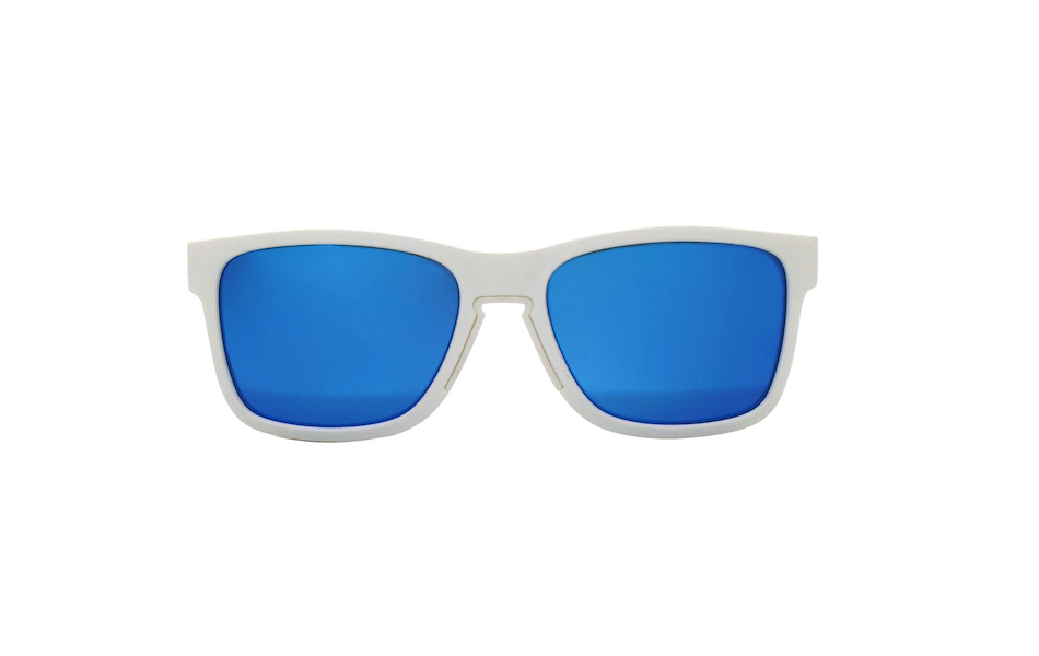 Carnac Razzle Sunglasses / Matt White / Blue Revo