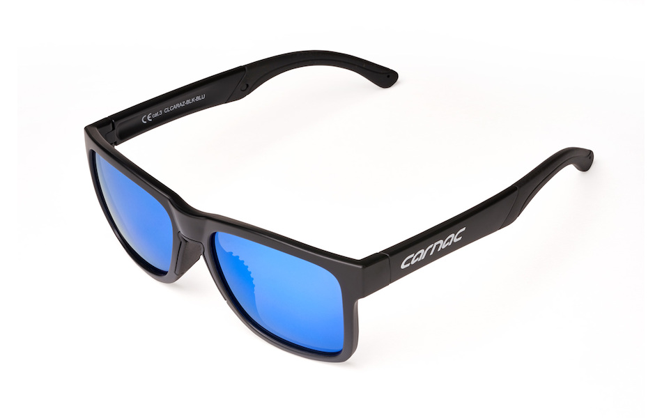 Carnac Razzle Sunglasses / Matt Black / Blue Revo