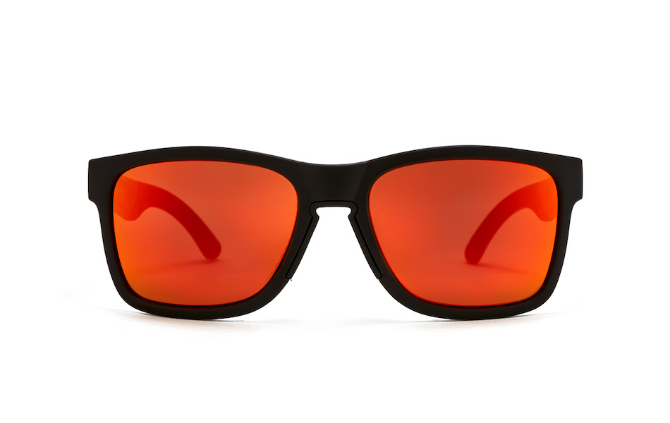 Carnac Razzle Sunglasses / Matt Black / Red Revo