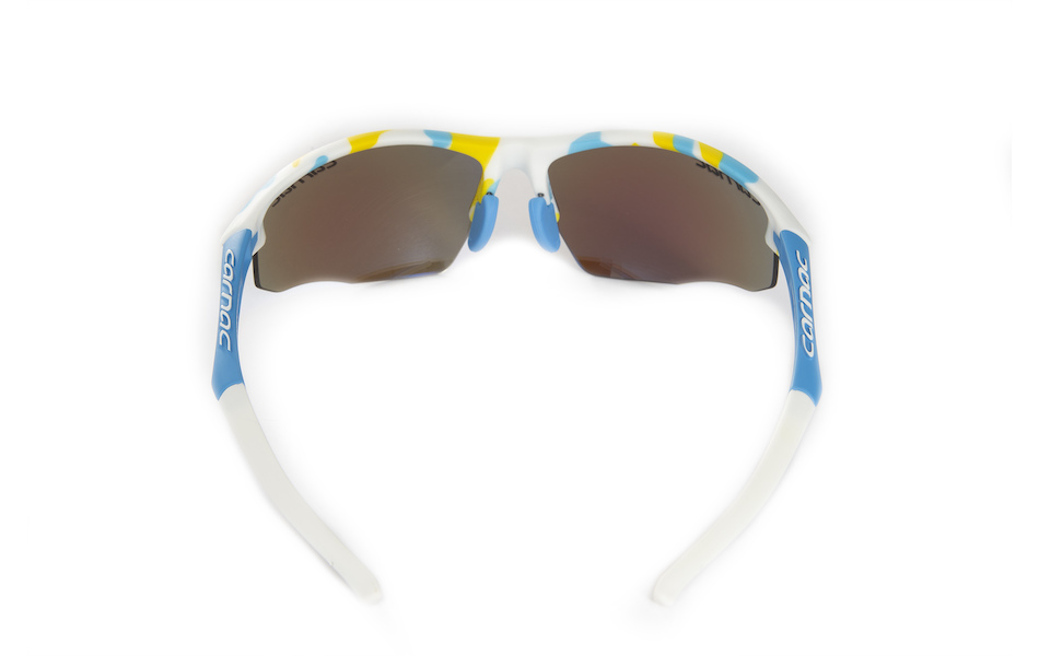 Carnac Ultimate Cycling Glasses (ANSI Z87.1) / Blue and White Camo