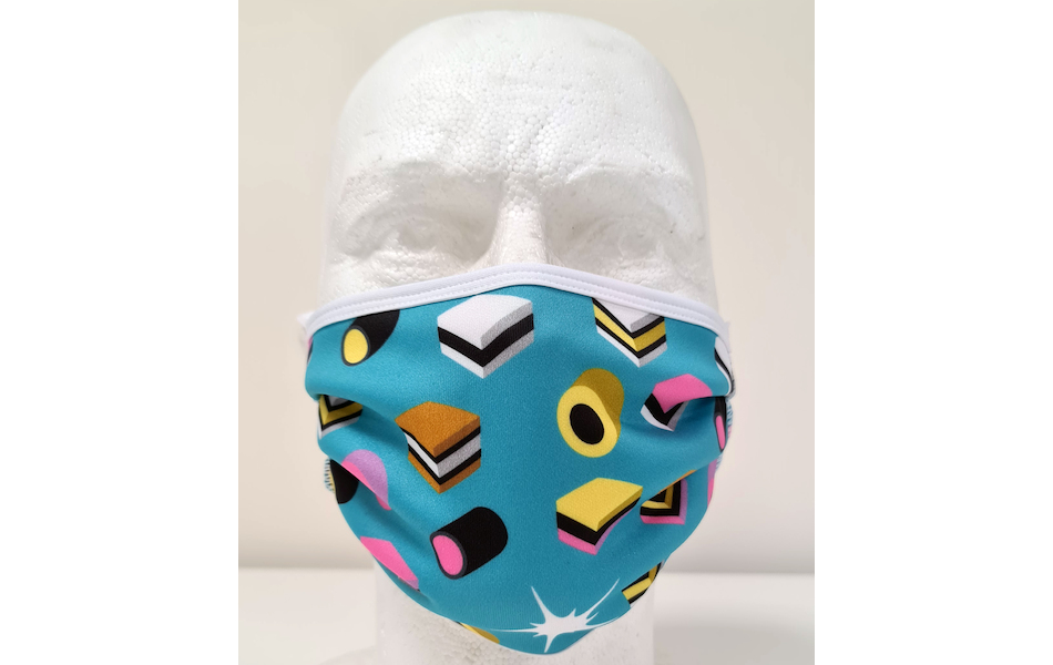 Planet X Sublimated Face Mask / Allsorts Blue