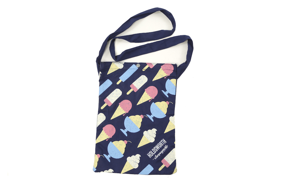 Holdsworth Blue Ice Cream Canvas Beach Bag