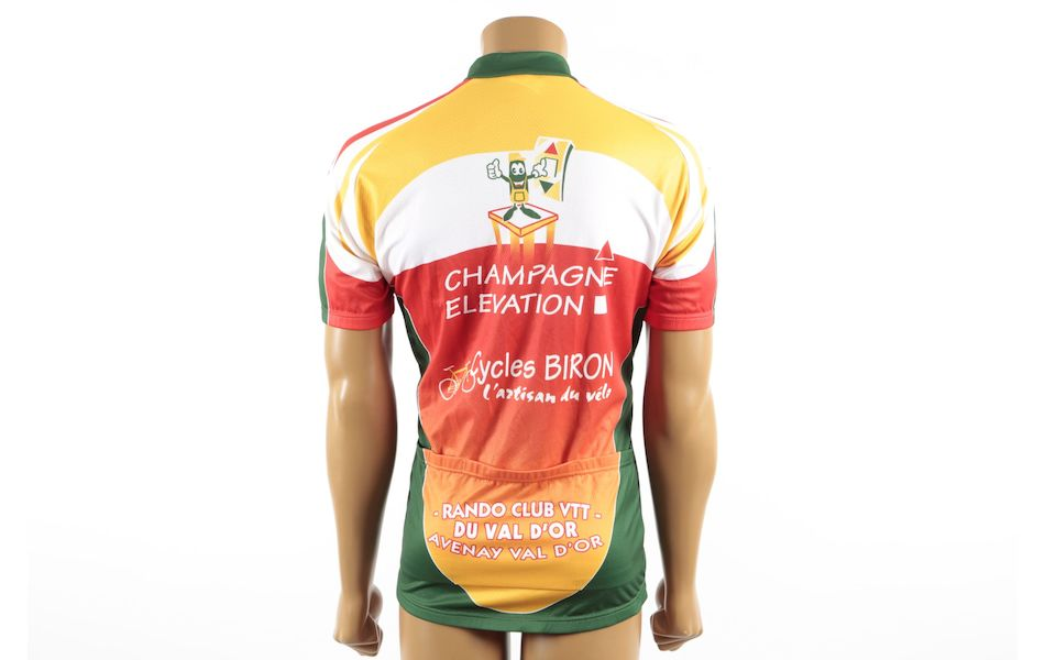NW, Jose Labeste, Champion ay en Champagne, CA Nord Est Short Sleeve Jersey