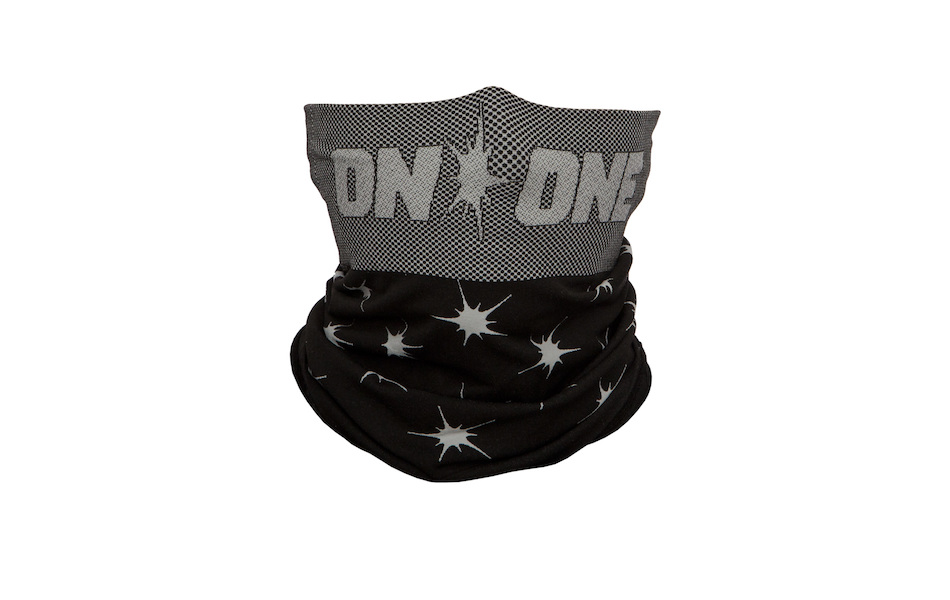 On-One Seamless Neck Warmer / One Size / Splat Black