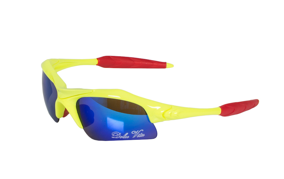 Dolce Vita Air Force One Cycling Glasses / Fluo Yellow / Blue Revo / Clear and Smoke