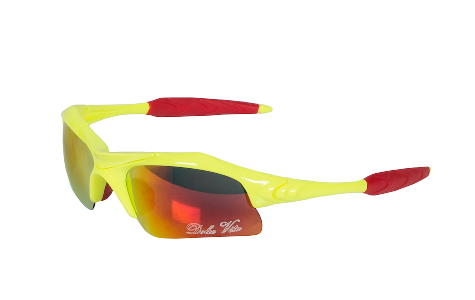 Dolce Vita Air Force One Cycling Glasses / Fluo Yellow / Red Revo / Clear and Smoke