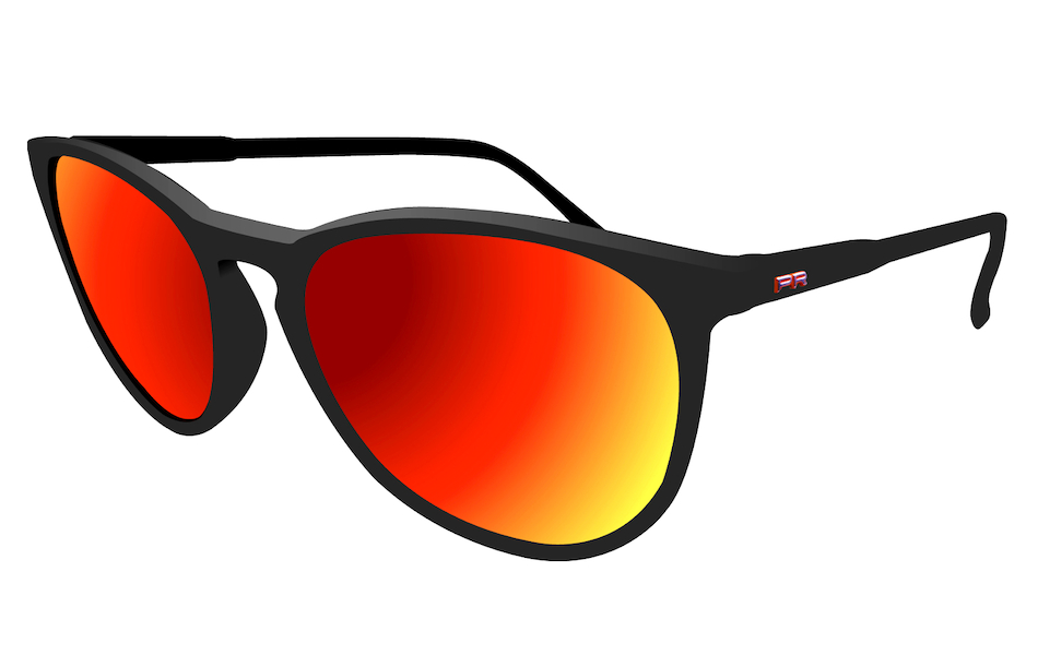 Power Race Fashion Two Cycling Glasses / Black / Red Revo
