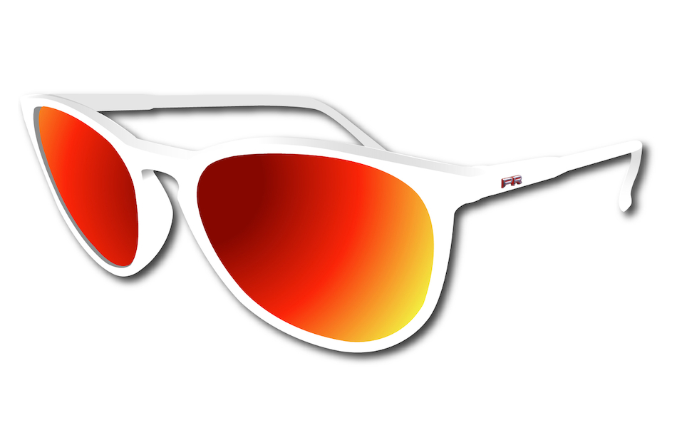 Power Race Fashion Two Cycling Glasses / White / Red Revo