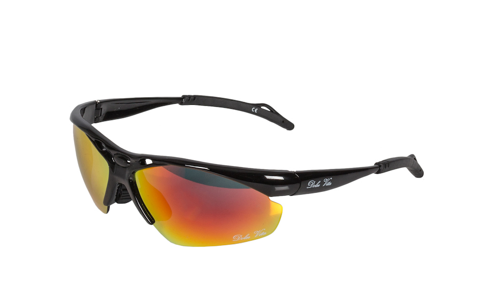 Dolce Vita Top Gun Cycling Glasses / Black / Red Revo / Orange and Clear