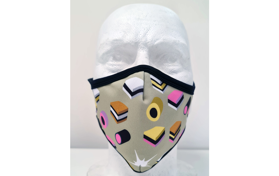 Planet X Custom Fabric Filter Face Mask / Allsorts Caramel