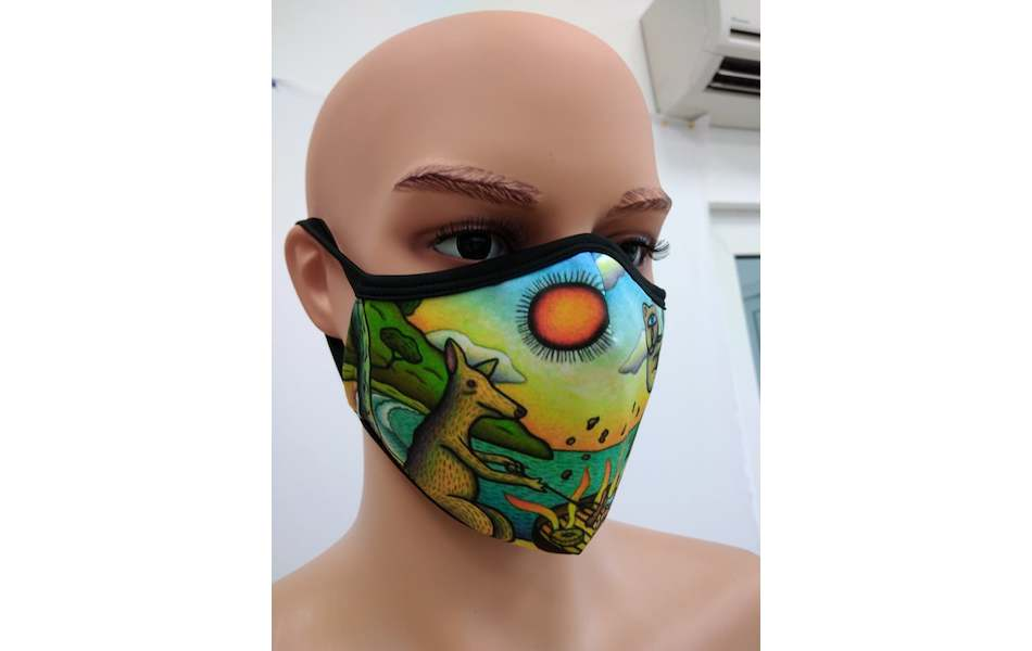 Planet X Custom Fabric Filter Face Mask / Reg Mombassa Edition Australian  Barbecue