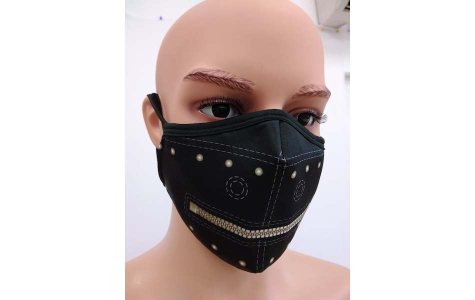 Planet X Custom Fabric Filter Face Mask / The Gimp Black