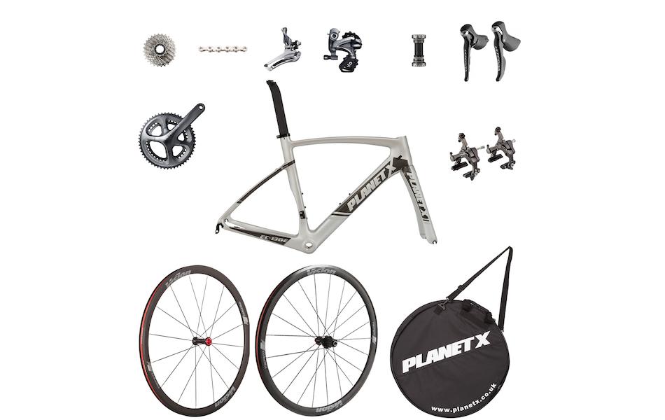 Planet X EC-130E Rivet Rider Ultegra Silver Shadow Only Special Build Bike Kit