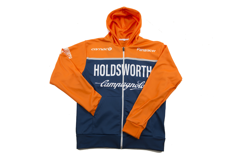 Holdsworth Pro Cycling Team Hooded Top / X Large / Blue And Orange / Shop Soiled