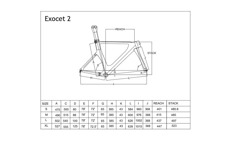 Planet X Exocet 2 Carbon TT Frameset