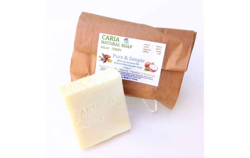 Caria Natural Pure And Simple Coconut Soap Bar