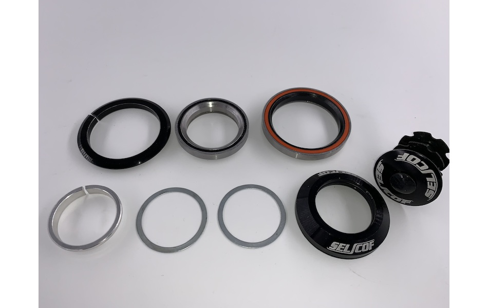 "Selcof SPORT Integrated Cup Angular Contact Cartridge Bearing V2 Headset For Tapered 1"" 1/8th  1.5"" Fork Steerer"