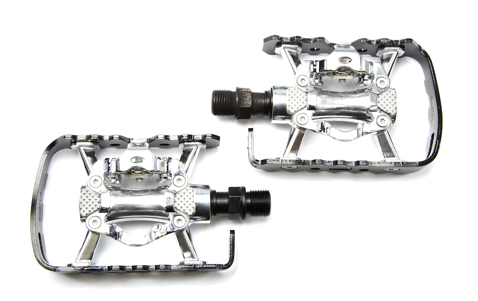 Jobsworth Single Side Clipless SPD-Style Pedals With Cleats