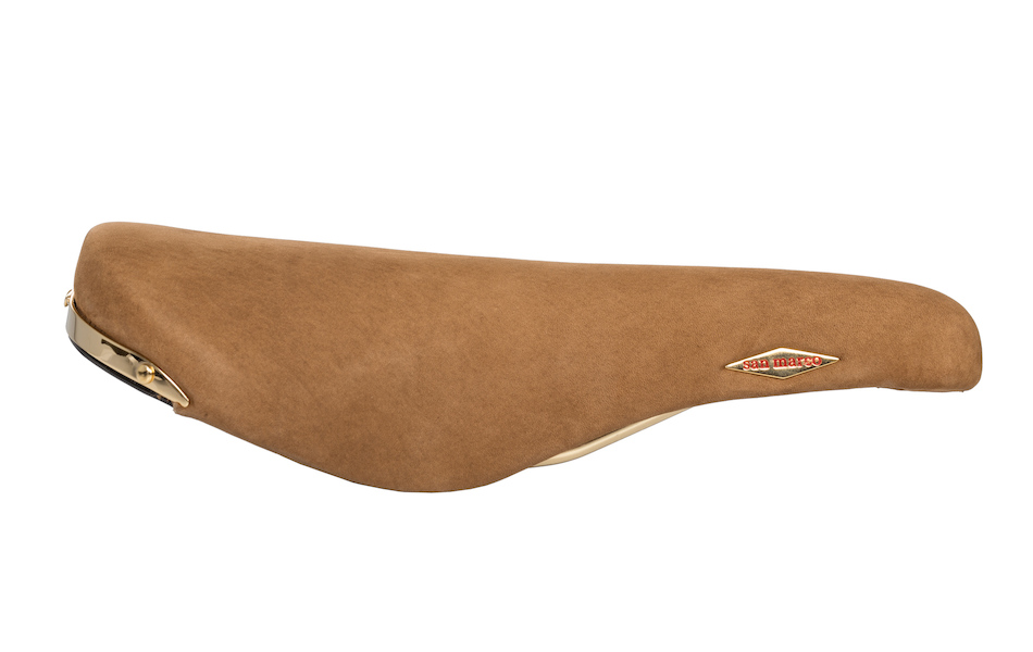 San Marco Rolls Saddle / Steel / Suede Brown
