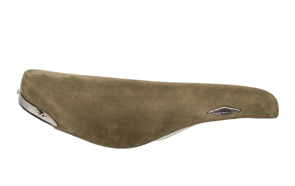 San Marco Rolls Saddle / Steel / Olive