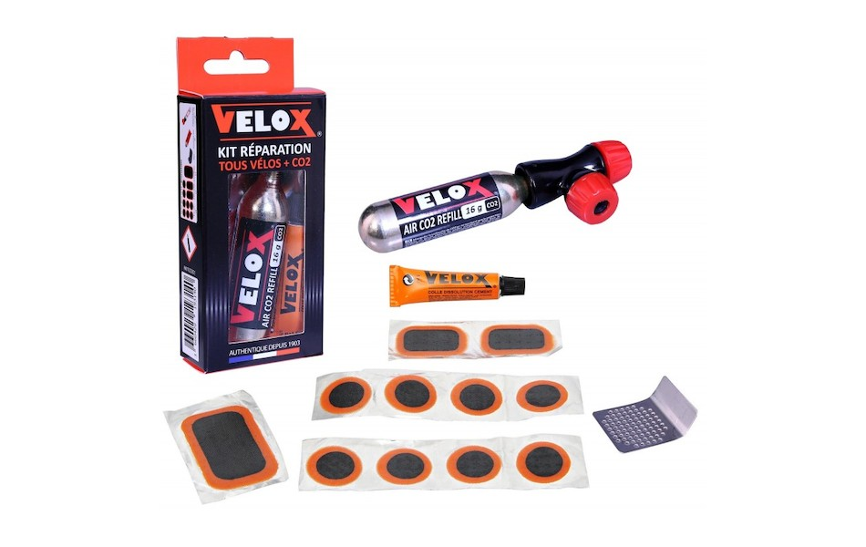 Velox Puncture Repair Kit And 16g Co2 Inflator