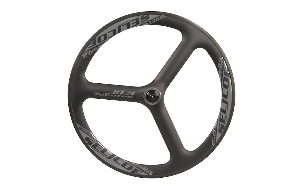 Selcof Ultra 0.3 Time Trial / Triathlon Tri Spoke Carbon Aero Front Wheel / Clincher