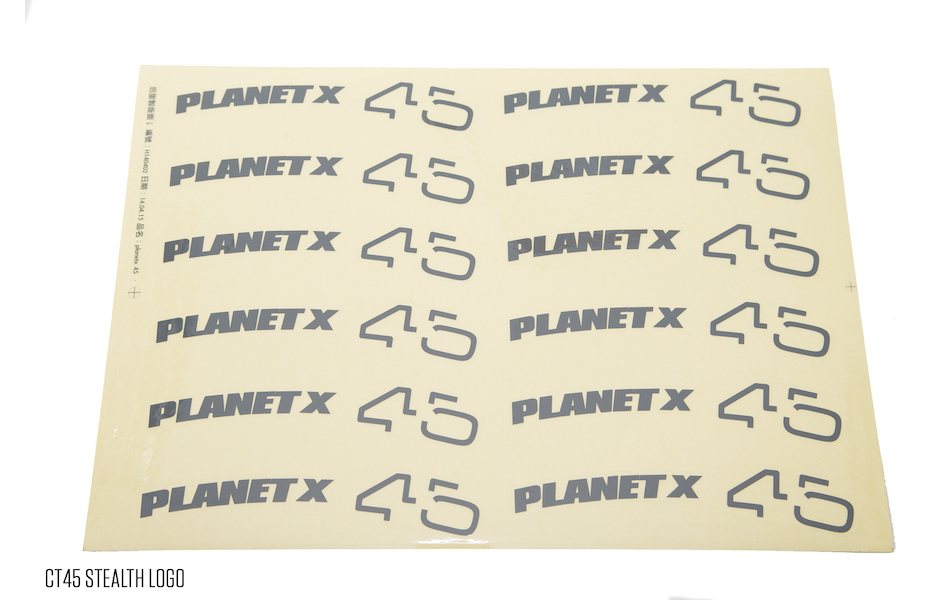Planet X Wheelset Decals / CT45 Stealth Logo(12)