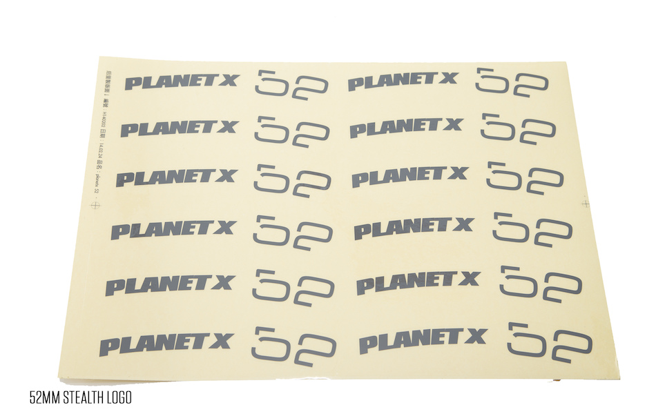 Planet X Wheelset Decals / 52mm Stealth Logo(12)