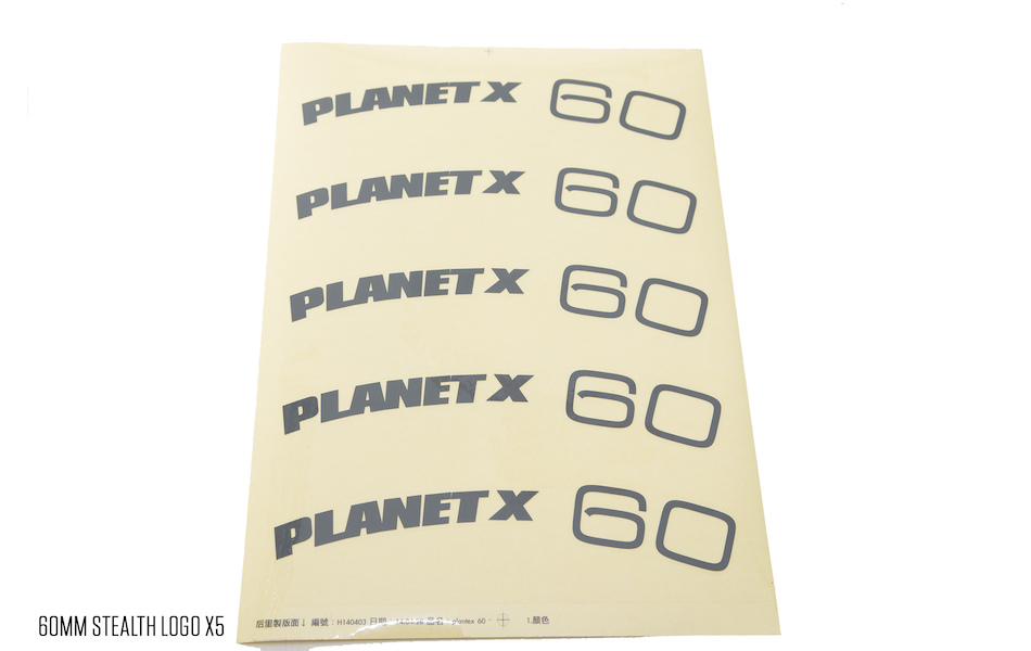 Planet X Wheelset Decals / 60mm Stealth Logo(5)